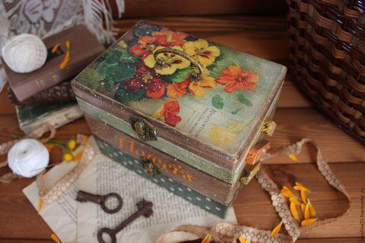 """Шкатулки ручной работы. Ярмарка Мастеров - ручная работа. Купить Шкатулка """"Vintage flowers"""". Handmade. Декупаж, подарок, дерево"""
