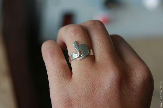 """Кольца ручной работы. Ярмарка Мастеров - ручная работа. Купить Кольцо """"Кошка"""" (№72). Handmade. Кольцо, серебро, украшение с кошкой"""