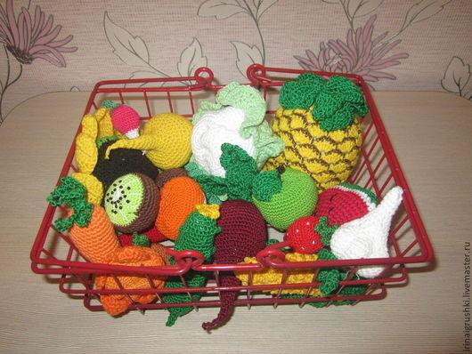 Еда ручной работы. Ярмарка Мастеров - ручная работа. Купить Вязаные овощи, фрукты, ягоды. Handmade. Фрукты, набор для кухни