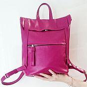 Сумки и аксессуары ручной работы. Ярмарка Мастеров - ручная работа Розовый женский рюкзак. Handmade.