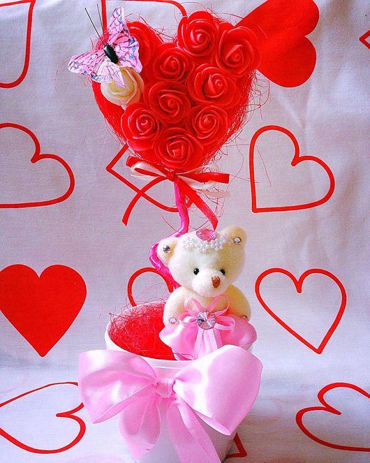 """Топиарии ручной работы. Ярмарка Мастеров - ручная работа. Купить Топиарий """"Любовь"""". Handmade. Любовь, любимой, топиарий, сердце"""