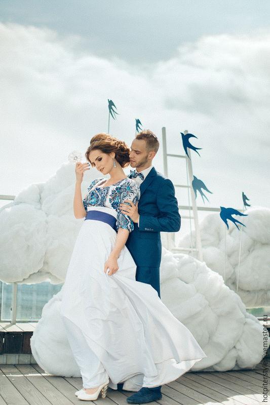 Купить свадебное платье в русском стиле
