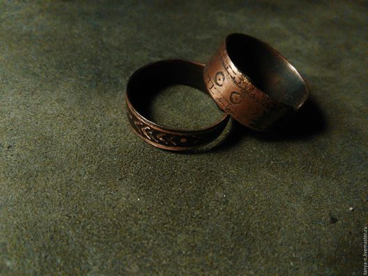 Кольца ручной работы. Ярмарка Мастеров - ручная работа. Купить кольца медные. Handmade. Медь, патинирование, комбинированный, травление