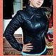 """Верхняя одежда ручной работы. Ярмарка Мастеров - ручная работа. Купить Кожаная куртка """"Эллада"""". Handmade. Черный, кожа"""
