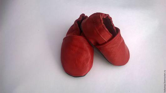 Кожаные тапочки- чешки (от0-11лет) .сменная обувь.чешки.пинетки.Наталья (БЭБИТОП )