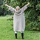 Верхняя одежда ручной работы. Ярмарка Мастеров - ручная работа. Купить Вязаное пальто-перевёртыш. Handmade. Бежевый, стиль