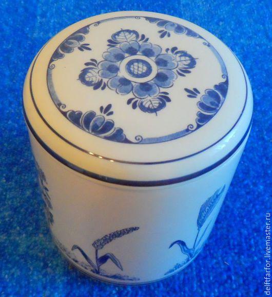 Винтажная посуда. Ярмарка Мастеров - ручная работа. Купить Банка Делфт для хранения. Handmade. Голубой, Делфт, фарфор