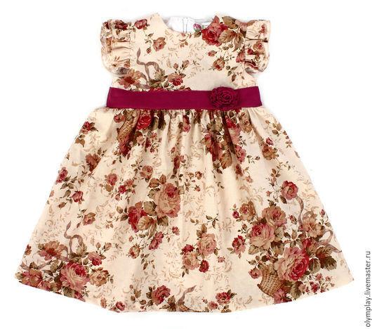 Одежда для девочек, ручной работы. Ярмарка Мастеров - ручная работа. Купить Платье - ручная работа (200380). Handmade. Цветочный, подарок