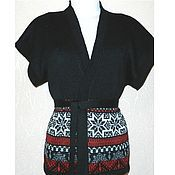 Одежда handmade. Livemaster - original item Vest kimono oversized knit with a Norwegian ornament. Handmade.