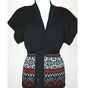 Одежда ручной работы. Ярмарка Мастеров - ручная работа Вязаный жилет-кимоно с норвежским орнаментом. Handmade.