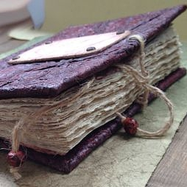 """Канцелярские товары ручной работы. Ярмарка Мастеров - ручная работа """"Гранатовый букет"""" блокнот ручной работы. Handmade."""