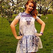 Одежда ручной работы. Ярмарка Мастеров - ручная работа платье из натурального шифона. Handmade.
