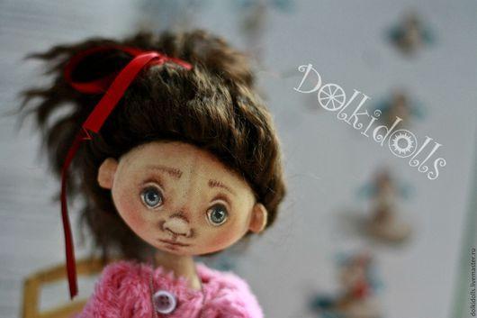 Коллекционные куклы ручной работы. Ярмарка Мастеров - ручная работа. Купить Малышка Банни. текстильная шарнирная кукла. тедди-долл. Handmade.