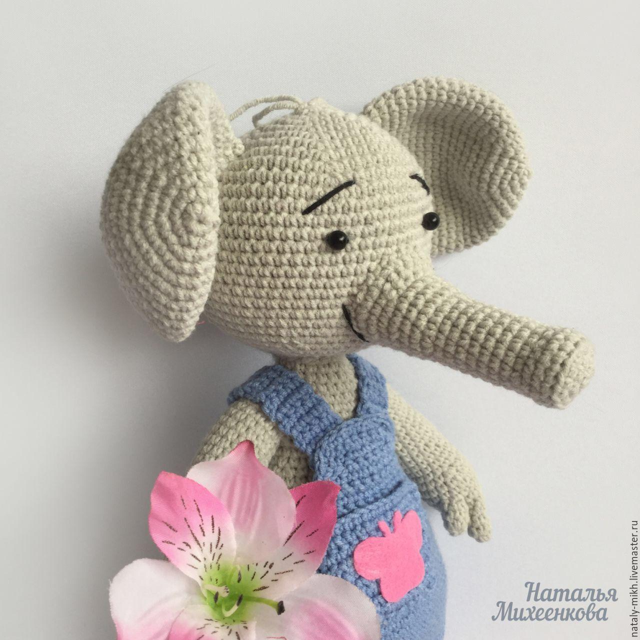 Игрушки животные, ручной работы. Ярмарка Мастеров - ручная работа. Купить Вязаный слоник Тома. Handmade. Вязание крючком