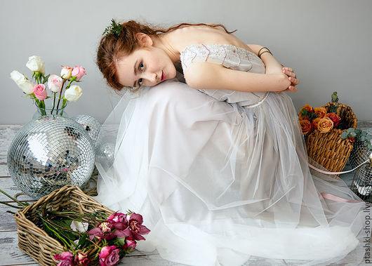 Одежда и аксессуары ручной работы. Ярмарка Мастеров - ручная работа. Купить Свадебное платье Лепестки. Handmade. Бледно-розовый