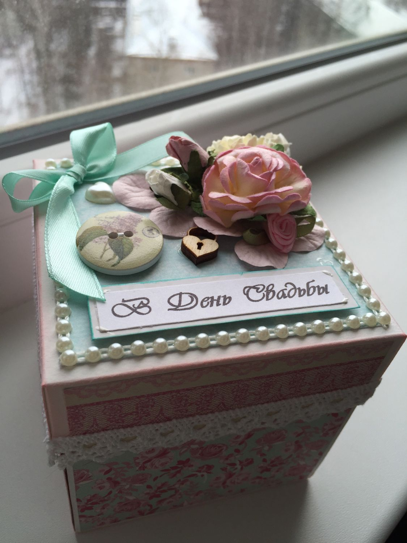Коробка открытка на свадьбу 61