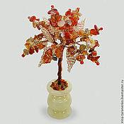 Цветы и флористика handmade. Livemaster - original item Miniature tree of life from the sardonyx in a vase of onyx. Handmade.