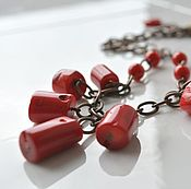Украшения handmade. Livemaster - original item Necklace of red coral on a Salsa chain to buy. Handmade.