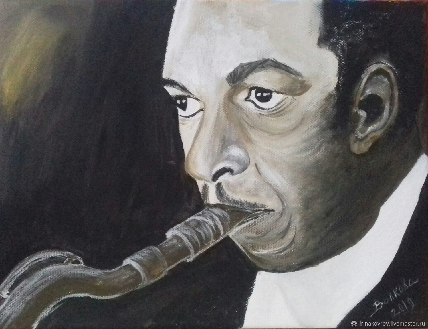 Painting on canvas. Musician. John Coltrane, Pictures, Kovrov,  Фото №1