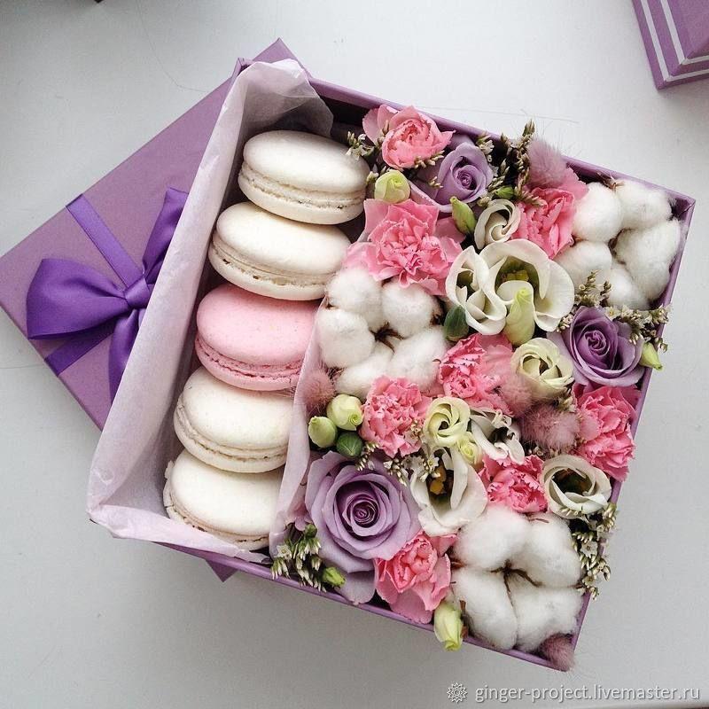 Цветы в коробке фото мастер