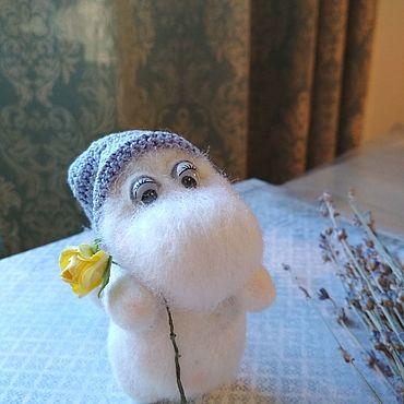 """Куклы и игрушки ручной работы. Ярмарка Мастеров - ручная работа Валяная игрушка """"Муми-тролль"""". Handmade."""