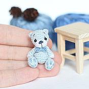 Куклы и игрушки ручной работы. Ярмарка Мастеров - ручная работа Миниатюрный мишка амигуруми 3,5 см вязаная игрушка. Handmade.