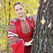 Народные костюмы ручной работы. Ярмарка Мастеров - ручная работа Рубаха-длиннорукавка. Handmade.