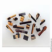 Украшения handmade. Livemaster - original item Earrings rectangular wood.. Handmade.