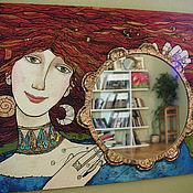 """Для дома и интерьера ручной работы. Ярмарка Мастеров - ручная работа Зеркало """"Рыжая Муза"""". Handmade."""