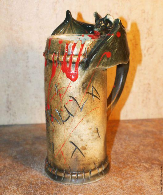 Готика ручной работы. Ярмарка Мастеров - ручная работа. Купить Кружка Кровавая. Handmade. Кружка, кружка для пива, вампиры