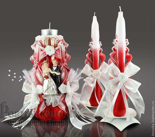 Резные свадебные свечи ручной работы. Свечи свадебные. Свечи домашний очаг.