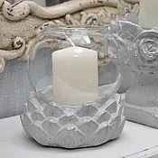 Подсвечники ручной работы. Ярмарка Мастеров - ручная работа Бетонный подсвечник с вазой для свечи Vintage Artichoke. Handmade.