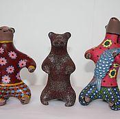 Куклы и игрушки ручной работы. Ярмарка Мастеров - ручная работа Довольные Медведики. Handmade.