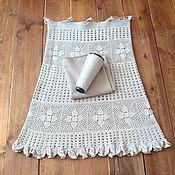 Одежда ручной работы. Ярмарка Мастеров - ручная работа Юбка вязаная Полуфабрикат + Ткань. Handmade.