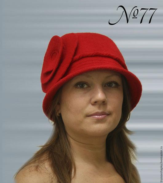 Шляпы ручной работы. Ярмарка Мастеров - ручная работа. Купить Женская шляпка СПИРАЛЬКА. Handmade. Ярко-красный, стиль