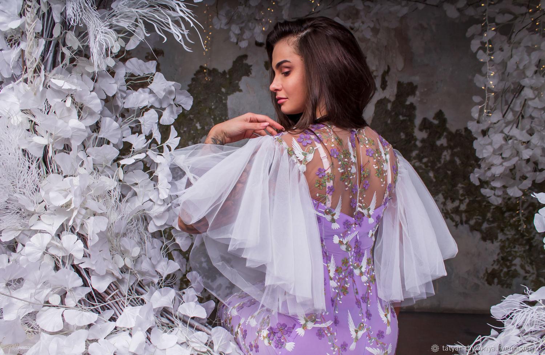 «Райская птичка» кружевное платье с птичками 3D, Платья, Санкт-Петербург,  Фото №1