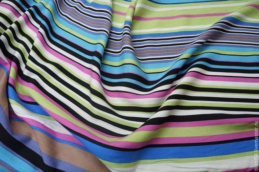 Шитье ручной работы. Ярмарка Мастеров - ручная работа. Купить Ткань плат. штапель 834/1, 150 см, голубой. Handmade.