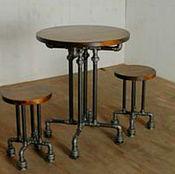 Для дома и интерьера ручной работы. Ярмарка Мастеров - ручная работа Кофейный столик с двумя табуретками. Handmade.