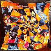"""Для дома и интерьера ручной работы. Ярмарка Мастеров - ручная работа Подушка """" В зазеркалье"""". Handmade."""
