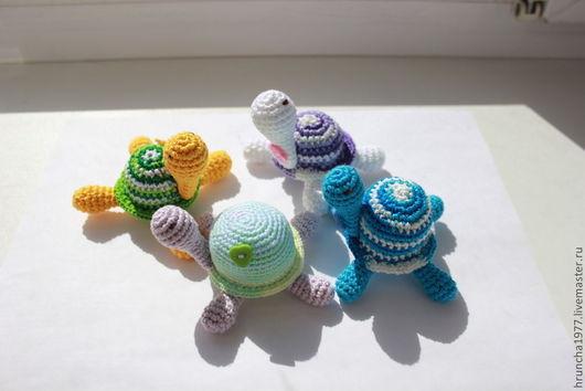 Игрушки животные, ручной работы. Ярмарка Мастеров - ручная работа. Купить Разноцветные черепашки. Handmade. Черепашки, черепаха, брелки на рюкзак