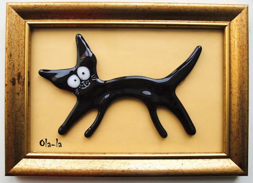 """Животные ручной работы. Ярмарка Мастеров - ручная работа. Купить Коллаж """"Кот"""". Handmade. Стекло, картина, оригинальный подарок"""