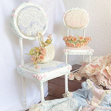 Dolls & toys handmade. Livemaster - original item Shabby doll chair, option 2. Handmade.