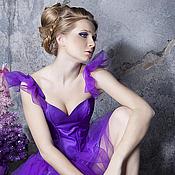 """Одежда ручной работы. Ярмарка Мастеров - ручная работа Платье """"Лилово-фиолетовое"""". Handmade."""