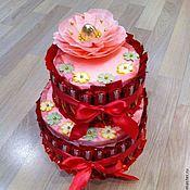 """Подарки к праздникам ручной работы. Ярмарка Мастеров - ручная работа Торт """"Праздничный"""". Handmade."""