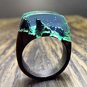 Украшения ручной работы. Ярмарка Мастеров - ручная работа Деревянное кольцо 17,5 размер, кольцо из дерева. Handmade.