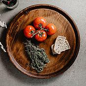 Для дома и интерьера handmade. Livemaster - original item Wooden Round Serving tray (40#3. Handmade.