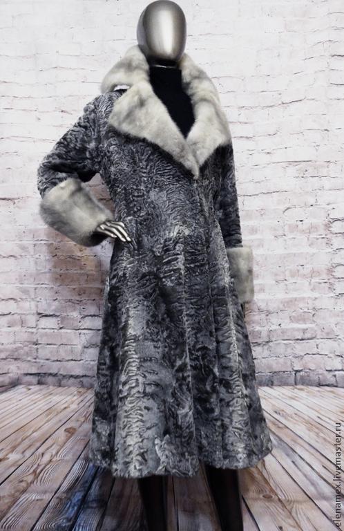 Верхняя одежда ручной работы. Ярмарка Мастеров - ручная работа. Купить Пальто из каракуля swakara .. Handmade. Норка, каракуль свакара