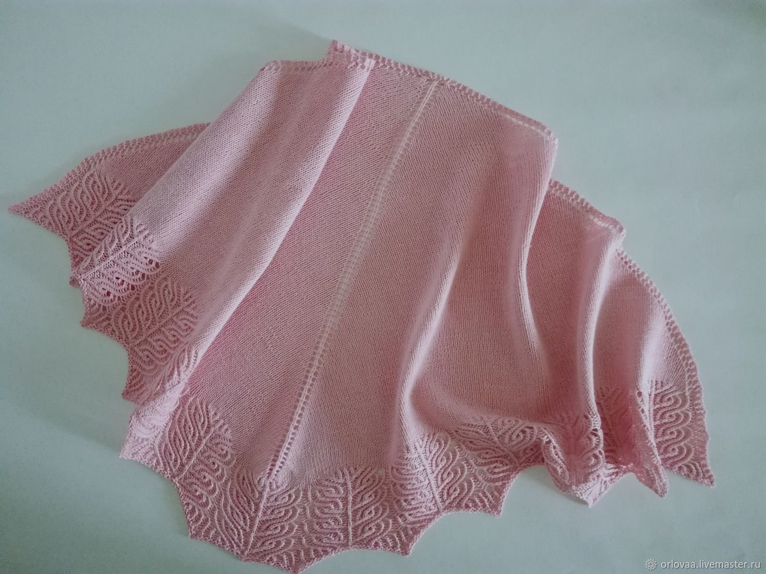 Shawl made of cotton linen and bamboo ' light pink', Shawls, Moscow,  Фото №1