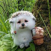 Куклы и игрушки handmade. Livemaster - original item Hedgehog Filippok and Hom`s hamster. Handmade.