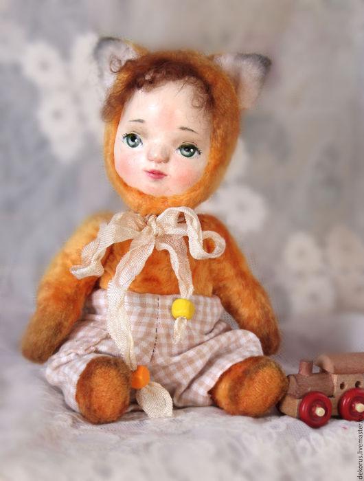 Коллекционные куклы ручной работы. Ярмарка Мастеров - ручная работа. Купить Тедди долл Гоша. Handmade. Рыжий, игрушка в подарок